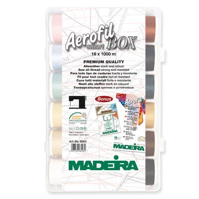 200m Aerofil No.120 18 Spools Madeira Clear Box